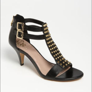 Vince Camuto Minter Leather T-Strap Heel